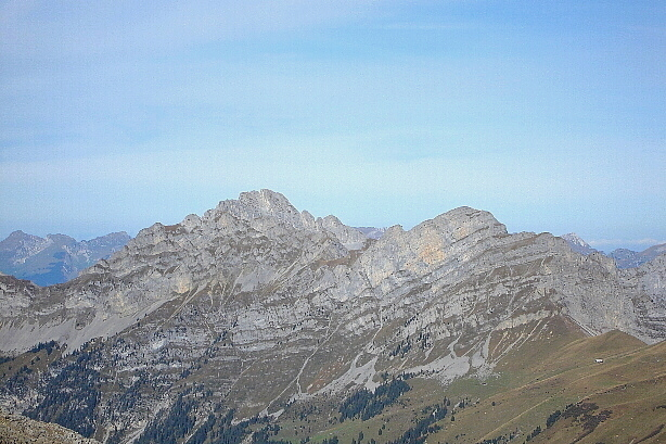 Hintere Spillgerte (2476m) and Diemtigtaler Rothorn (2410m) from Furggeli