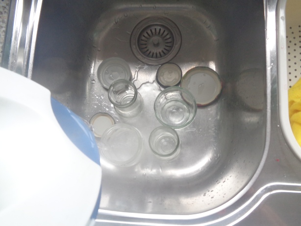 Sterilise the jars with boiling water