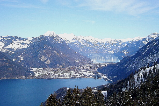 Lake Thun, Interlaken, Unterseen, Lake Brienz, Brienzer Rothorn range